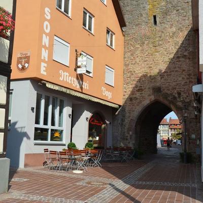 """Außenansicht - Metzgerei und Gasthaus """"Zur Sonne"""""""